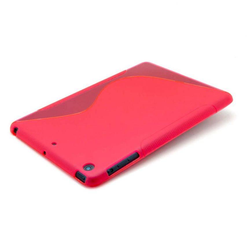 Vue portée de Coque iPad Mini Tpu Basics S-Line Rouge
