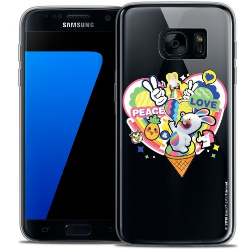 Coque Galaxy S7 Extra Fine Lapins Crétins™ - Peace And Love