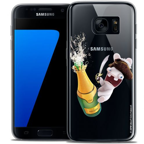Coque Galaxy S7 Extra Fine Lapins Crétins™ - Champagne !