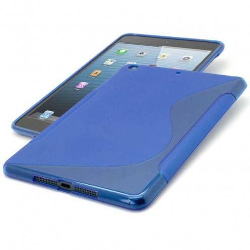 Coque iPad Mini Tpu Basics S-Line Bleu