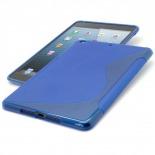 Vue complémentaire de Coque iPad Mini Tpu Basics S-Line Bleu