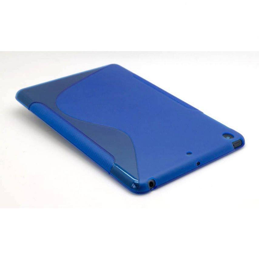 Photo réelle de Coque iPad Mini Tpu Basics S-Line Bleu