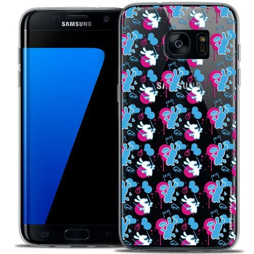 Coque Galaxy S7 Edge Extra Fine Lapins Crétins™ - Rugby Pattern
