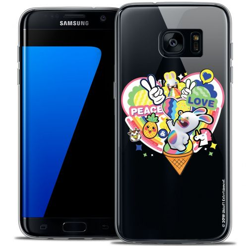 Coque Galaxy S7 Edge Extra Fine Lapins Crétins™ - Peace And Love