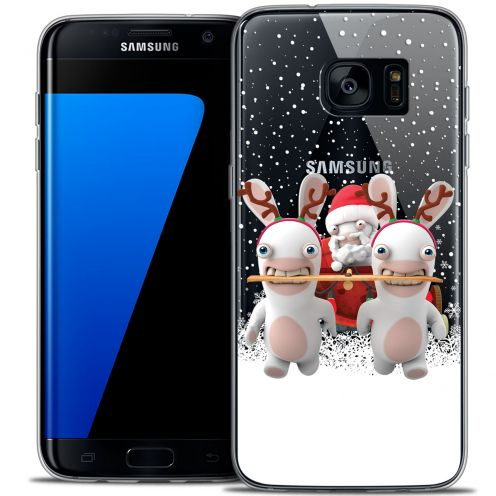 Coque Galaxy S7 Edge Extra Fine Lapins Crétins™ - Lapin Traineau
