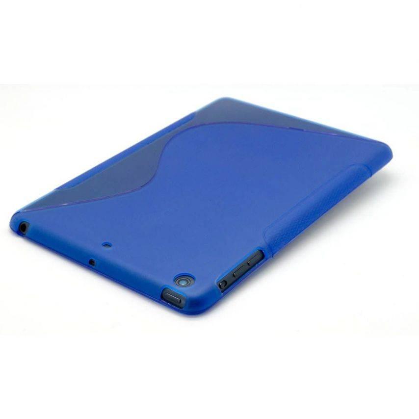Vue portée de Coque iPad Mini Tpu Basics S-Line Bleu