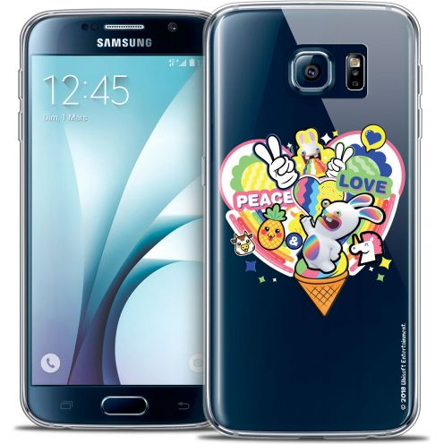 Coque Galaxy S6 Extra Fine Lapins Crétins™ - Peace And Love