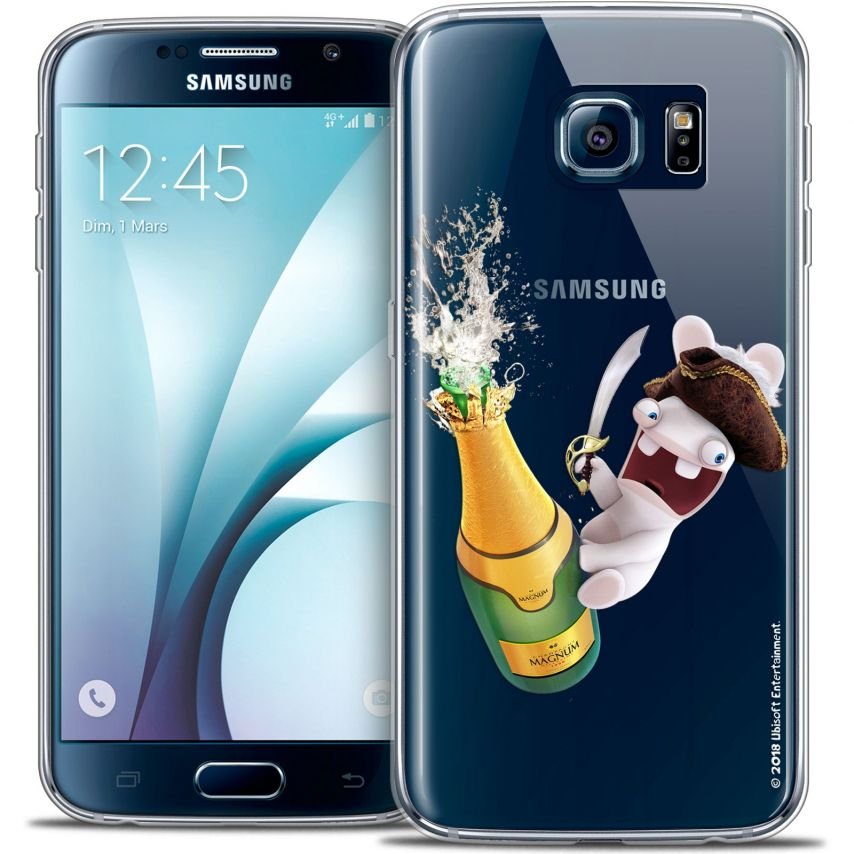 Coque Galaxy S6 Extra Fine Lapins Crétins™ - Champagne !