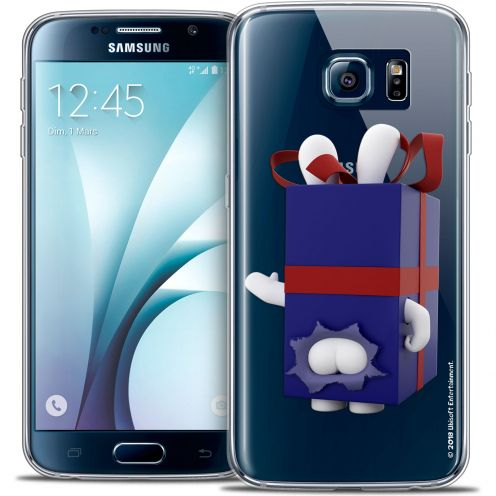 Coque Galaxy S6 Extra Fine Lapins Crétins™ - Lapin Surprise Bleu