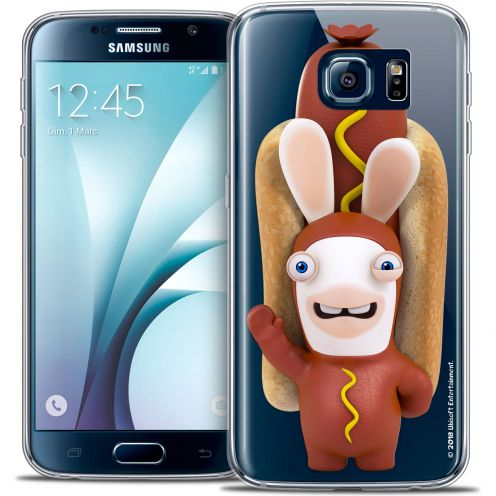 Coque Galaxy S6 Extra Fine Lapins Crétins™ - Hot Dog Crétin