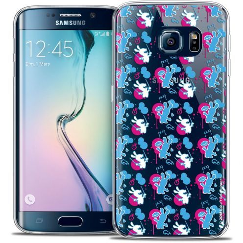 Coque Galaxy S6 Edge Extra Fine Lapins Crétins™ - Rugby Pattern