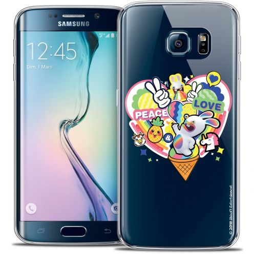 Coque Galaxy S6 Edge Extra Fine Lapins Crétins™ - Peace And Love