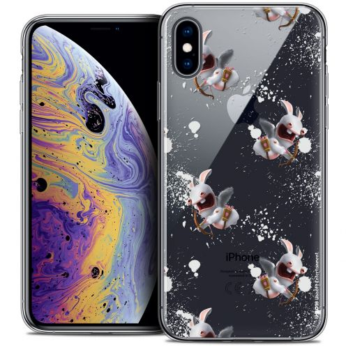 """Coque Gel Apple iPhone Xs / X (5.8"""") Extra Fine Lapins Crétins™ - Cupidon Pattern"""
