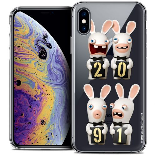 "Coque Gel Apple iPhone Xs Max (6.5"") Extra Fine Lapins Crétins™ - New Year"