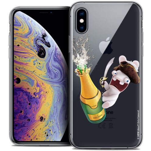 "Coque Gel Apple iPhone Xs Max (6.5"") Extra Fine Lapins Crétins™ - Champagne !"
