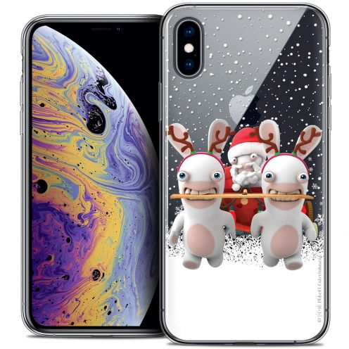 "Coque Gel Apple iPhone Xs Max (6.5"") Extra Fine Lapins Crétins™ - Lapin Traineau"