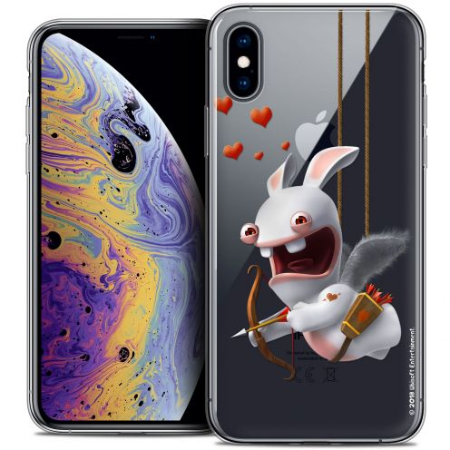 "Coque Gel Apple iPhone Xs Max (6.5"") Extra Fine Lapins Crétins™ - Flying Cupidon"