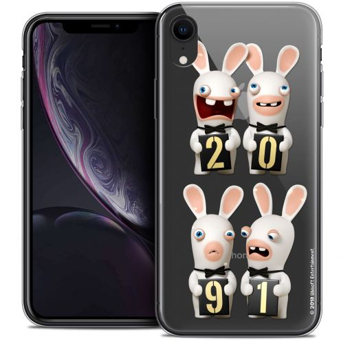 "Coque Gel Apple iPhone Xr (6.1"") Extra Fine Lapins Crétins™ - New Year"