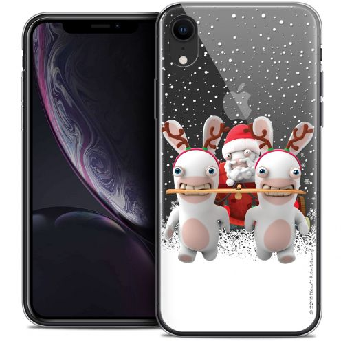 "Coque Gel Apple iPhone Xr (6.1"") Extra Fine Lapins Crétins™ - Lapin Traineau"