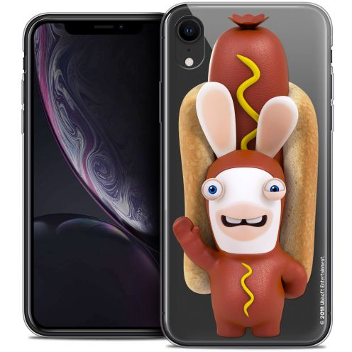 "Coque Gel Apple iPhone Xr (6.1"") Extra Fine Lapins Crétins™ - Hot Dog Crétin"