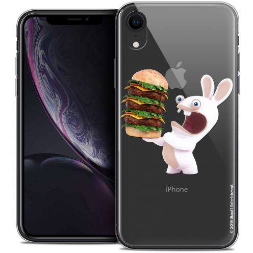 "Coque Gel Apple iPhone Xr (6.1"") Extra Fine Lapins Crétins™ - Burger Crétin"