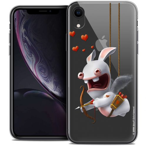"Coque Gel Apple iPhone Xr (6.1"") Extra Fine Lapins Crétins™ - Flying Cupidon"