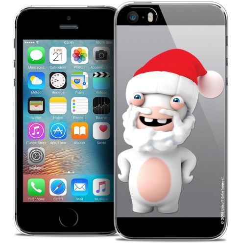 Coque iPhone 5/5s/SE Extra Fine Lapins Crétins™ - Lapin Noël