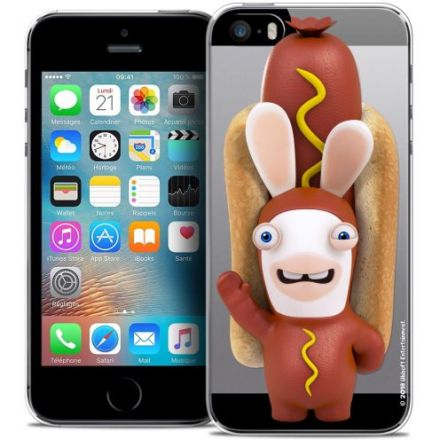 Coque iPhone 5/5s/SE Extra Fine Lapins Crétins™ - Hot Dog Crétin