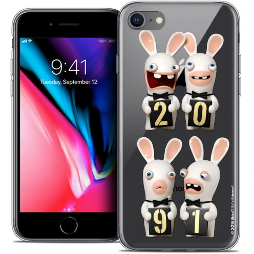 """Coque Gel Apple iPhone 7 (4.7"""") Extra Fine Lapins Crétins™ - New Year"""