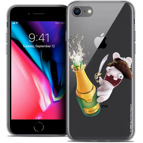 """Coque Gel Apple iPhone 7 (4.7"""") Extra Fine Lapins Crétins™ - Champagne !"""