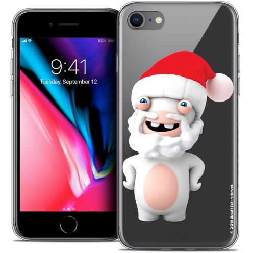 """Coque Gel Apple iPhone 7 (4.7"""") Extra Fine Lapins Crétins™ - Lapin Noël"""