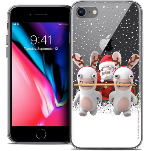 """Coque Gel Apple iPhone 7 (4.7"""") Extra Fine Lapins Crétins™ - Lapin Traineau"""