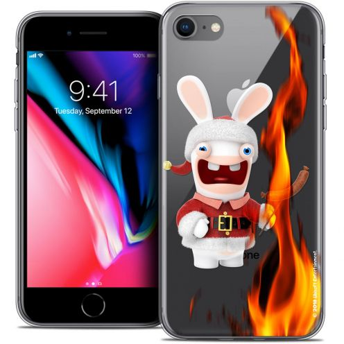 "Coque Gel Apple iPhone 7 (4.7"") Extra Fine Lapins Crétins™ - BBQ de Noël"