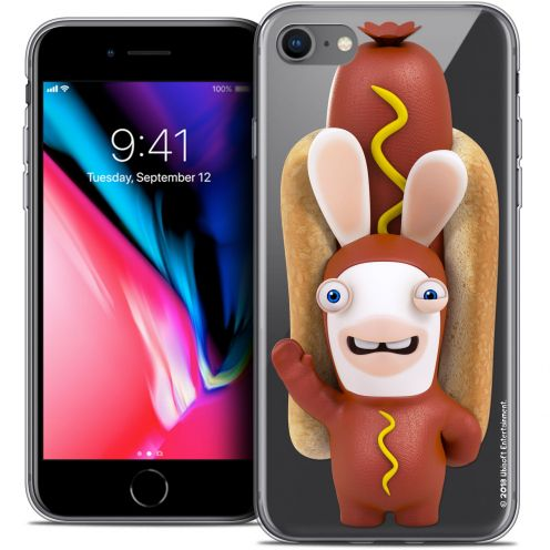 "Coque Gel Apple iPhone 7 (4.7"") Extra Fine Lapins Crétins™ - Hot Dog Crétin"