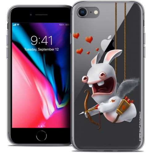 """Coque Gel Apple iPhone 7 (4.7"""") Extra Fine Lapins Crétins™ - Flying Cupidon"""