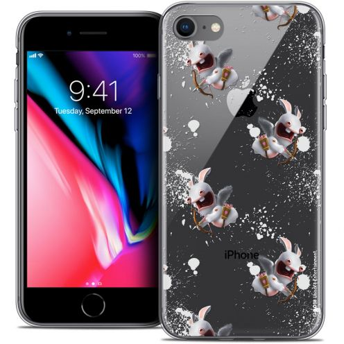 """Coque Gel Apple iPhone 7 (4.7"""") Extra Fine Lapins Crétins™ - Cupidon Pattern"""