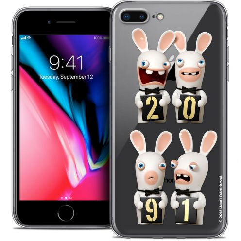 "Coque Gel Apple iPhone 7 Plus (5.5"") Extra Fine Lapins Crétins™ - New Year"