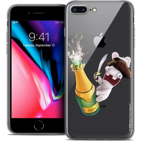 """Coque Gel Apple iPhone 7 Plus (5.5"""") Extra Fine Lapins Crétins™ - Champagne !"""