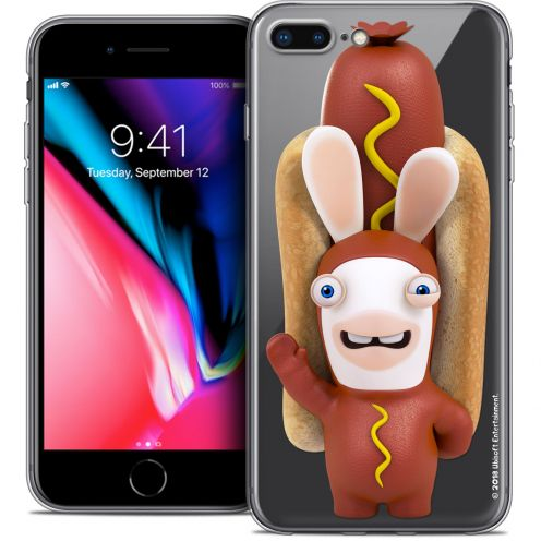 """Coque Gel Apple iPhone 7 Plus (5.5"""") Extra Fine Lapins Crétins™ - Hot Dog Crétin"""