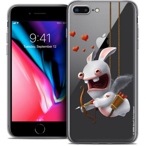 """Coque Gel Apple iPhone 7 Plus (5.5"""") Extra Fine Lapins Crétins™ - Flying Cupidon"""
