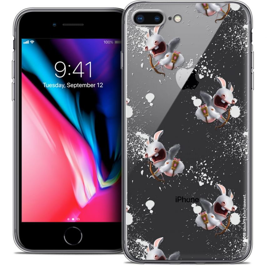 """Coque Gel Apple iPhone 7 Plus (5.5"""") Extra Fine Lapins Crétins™ - Cupidon Pattern"""