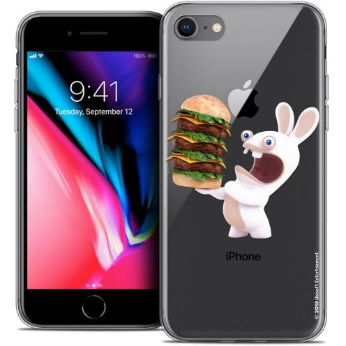 "Coque Gel Apple iPhone 8 (4.7"") Extra Fine Lapins Crétins™ - Burger Crétin"