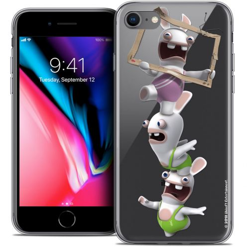 "Coque Gel Apple iPhone 8 (4.7"") Extra Fine Lapins Crétins™ - TV Sport"