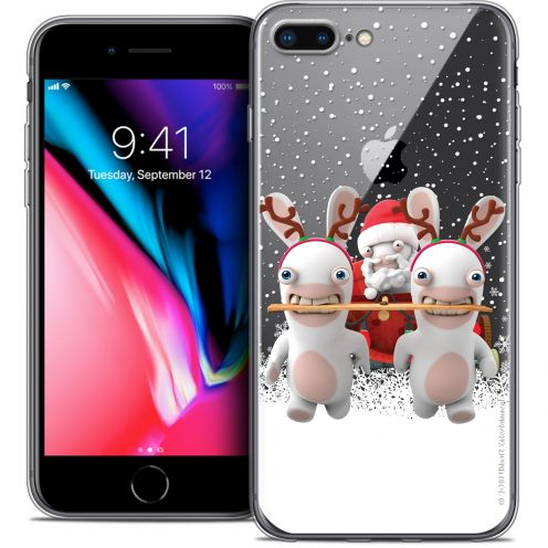 """Coque Gel Apple iPhone 8 Plus (5.5"""") Extra Fine Lapins Crétins™ - Lapin Traineau"""