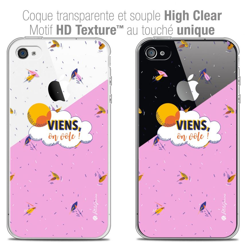 Coque iPhone 4/4s Extra Fine Petits Grains® - VIENS, On Vole !