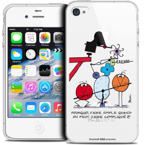 Coque iPhone 4/4s Extra Fine Les Shadoks® - Pourquoi faire Simple