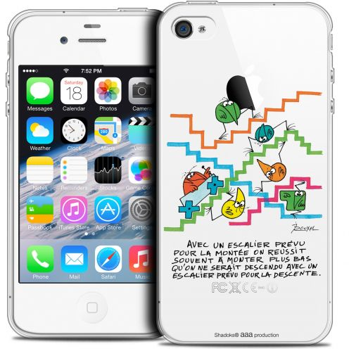 Coque iPhone 4/4s Extra Fine Les Shadoks® - L'escalier