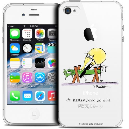 Coque iPhone 4/4s Extra Fine Les Shadoks® - Je pense Donc