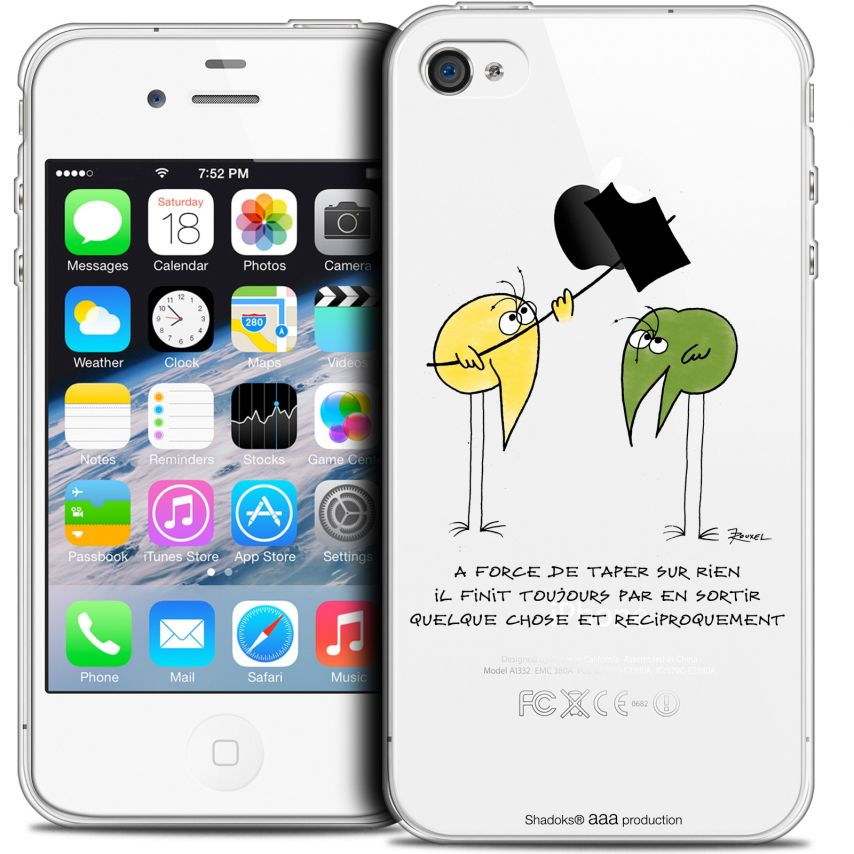 Coque iPhone 4/4s Extra Fine Les Shadoks® - A Force