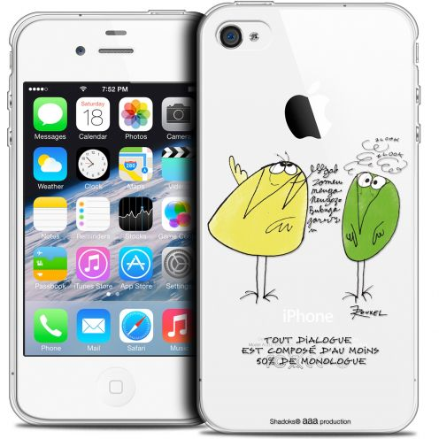 Coque iPhone 4/4s Extra Fine Les Shadoks® - Le Dialogue